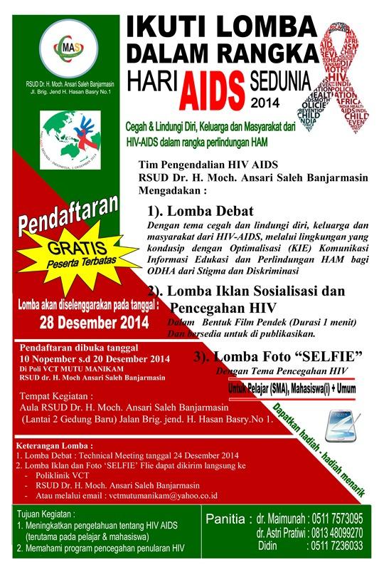 Lomba Dalam Rangka Hari Aids Sedunia 2014